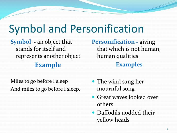 Symbol and Personification