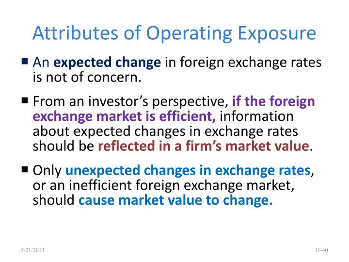 Attributes of Operating Exposure