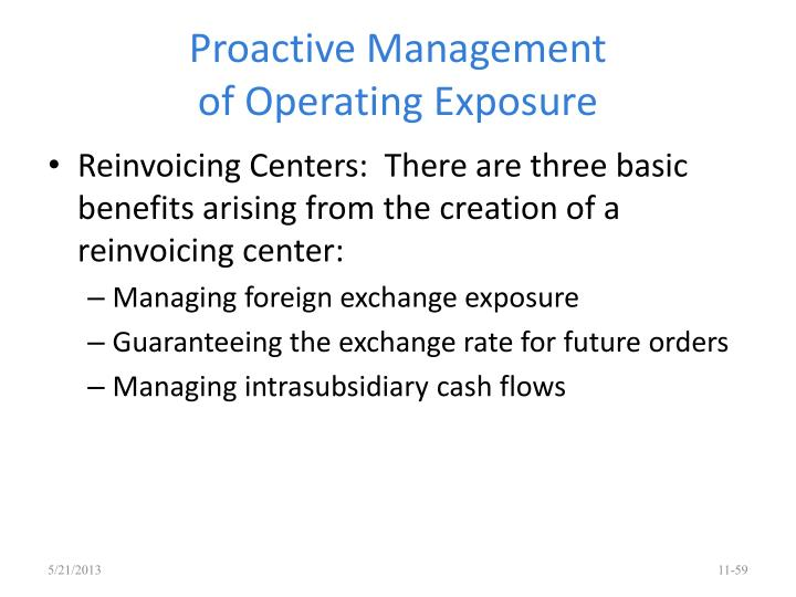 Proactive Management