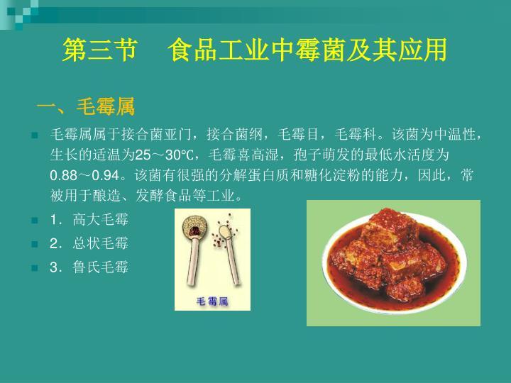 第三节    食品工业中霉菌及其应用