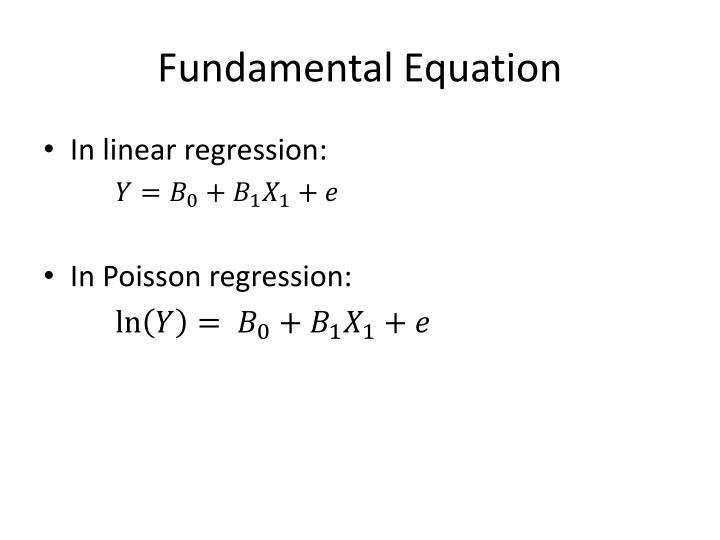 Fundamental Equation