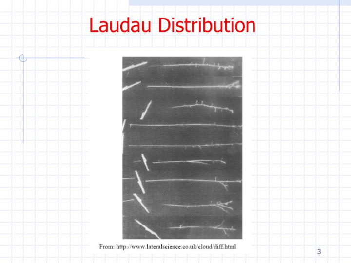 Laudau distribution