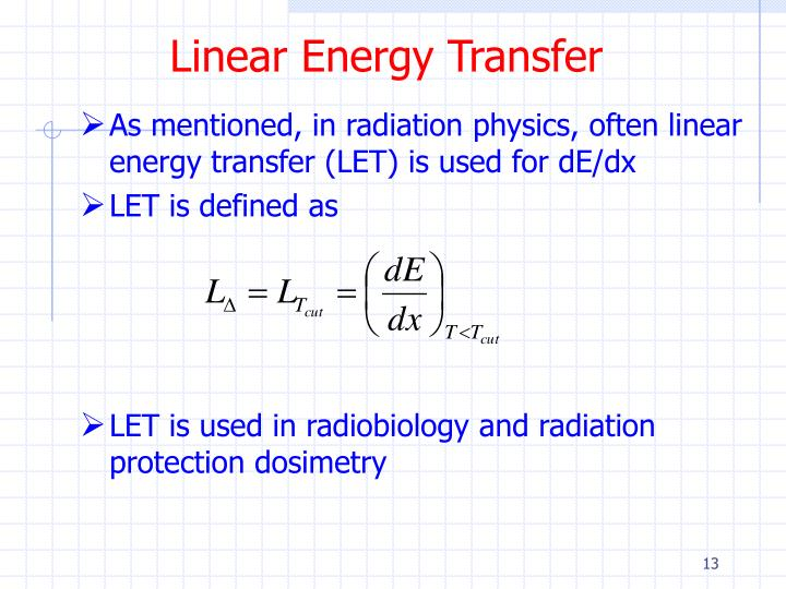 Linear Energy Transfer