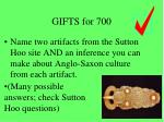 gifts for 700