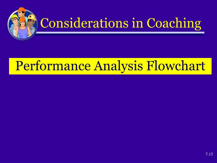 Considerations in Coaching