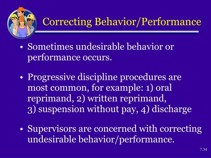 Correcting Behavior/Performance