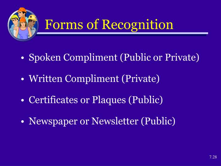 Forms of Recognition