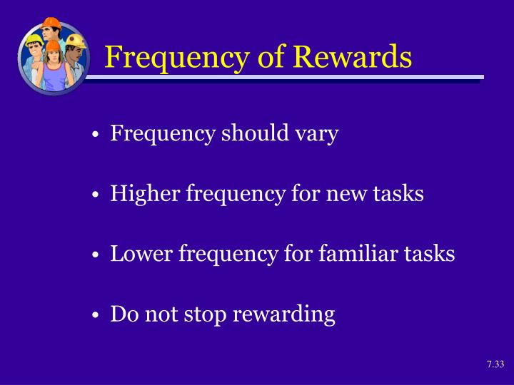 Frequency of Rewards