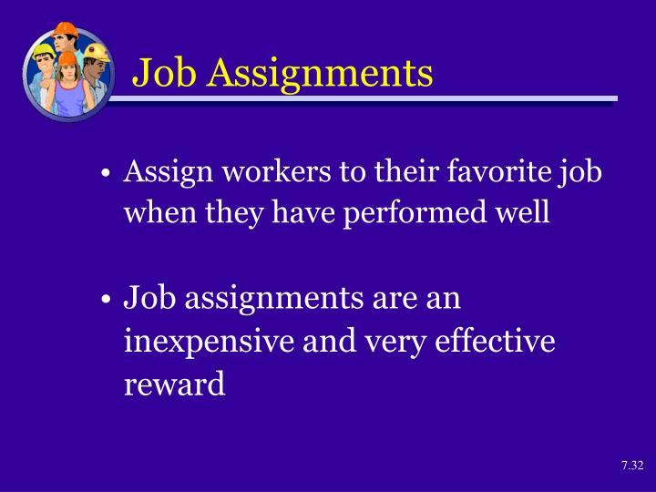 Job Assignments