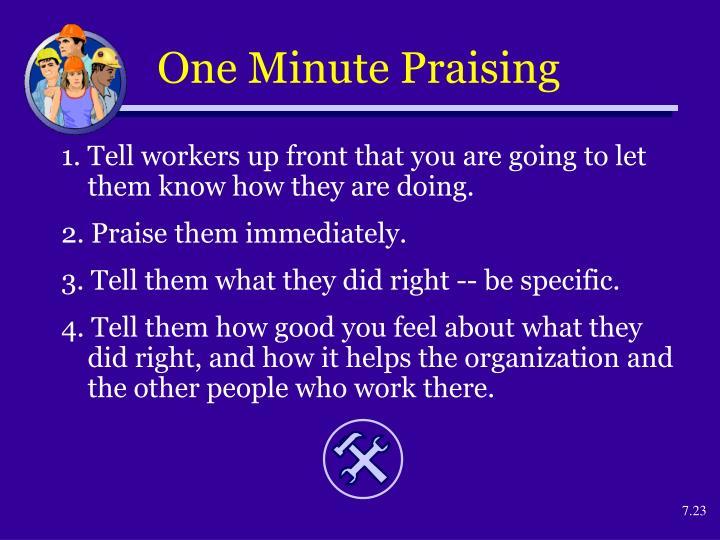 One Minute Praising
