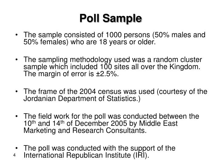 Poll Sample