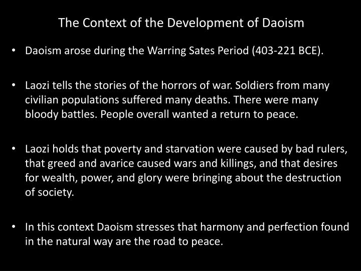 The Context of the Development of Daoism