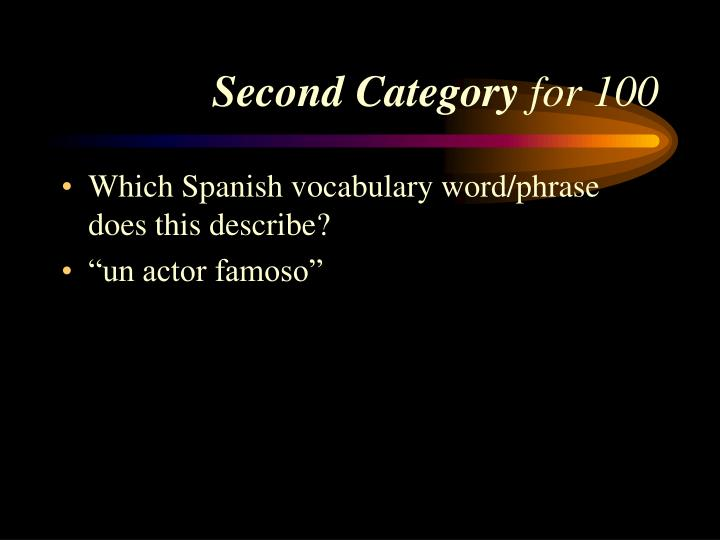 Second Category