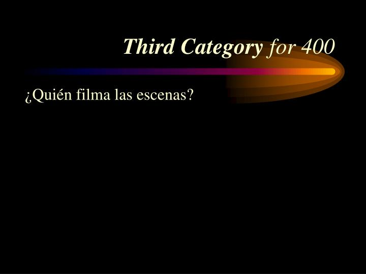 Third Category