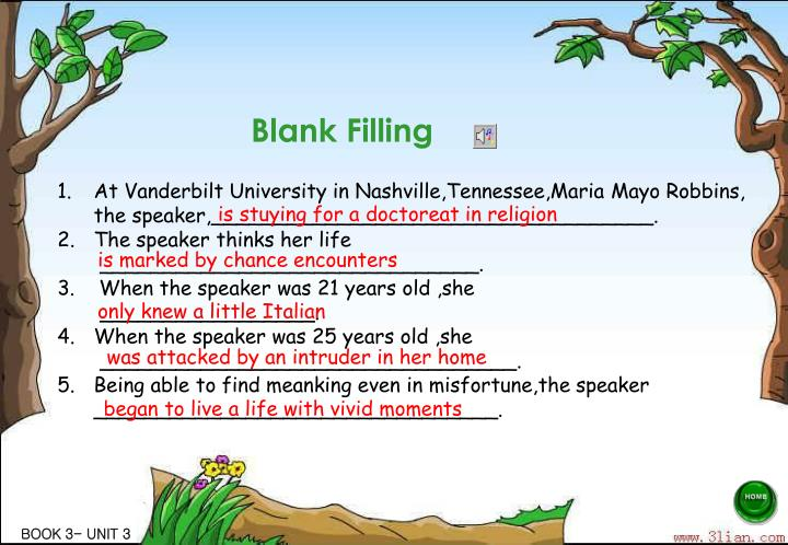 Blank Filling