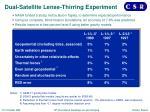 dual satellite lense thirring experiment