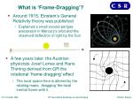 what is frame dragging