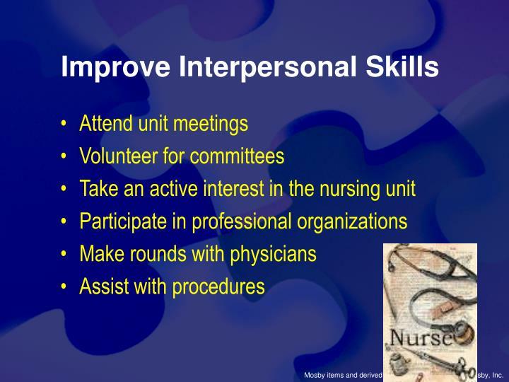 Improve Interpersonal Skills
