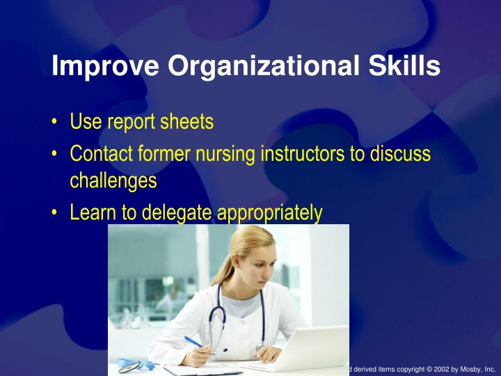 Improve Organizational Skills