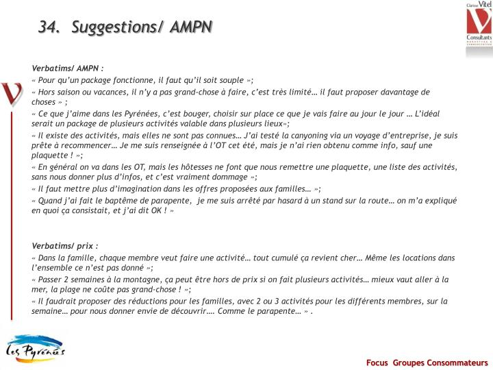 34.  Suggestions/ AMPN