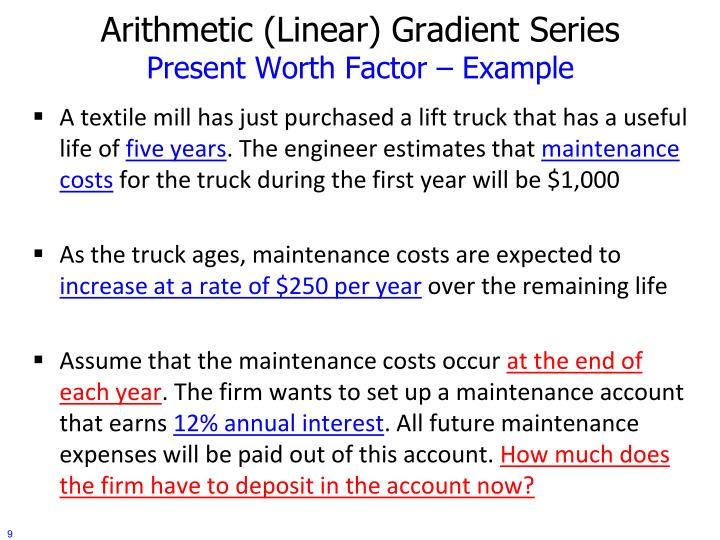 engineering economy   time   money arithmetic gradient series reema bdair