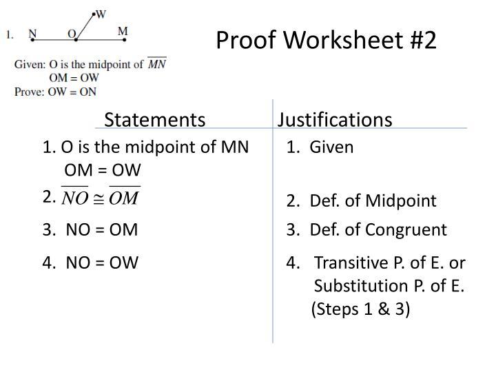 Proof Worksheet #2