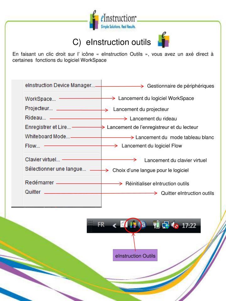 C)  eInstruction outils