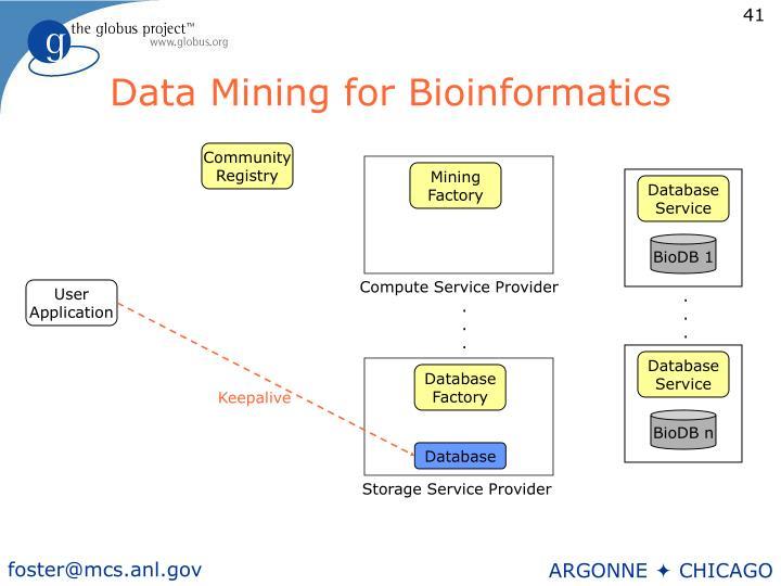 Data Mining for Bioinformatics