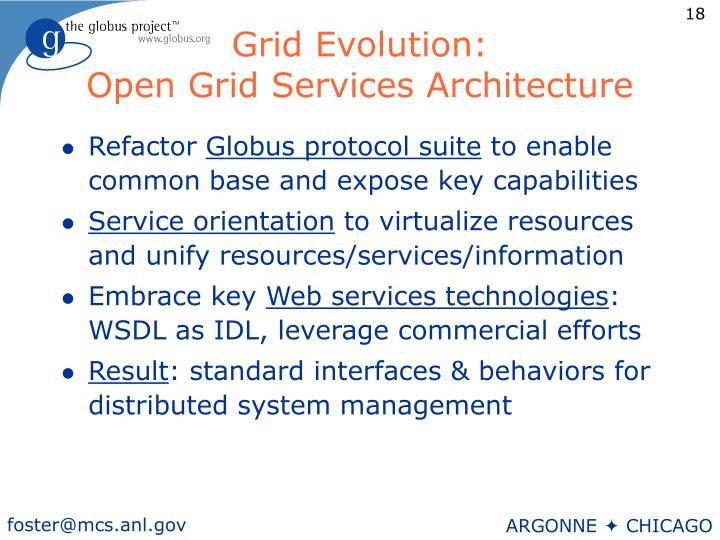 Grid Evolution: