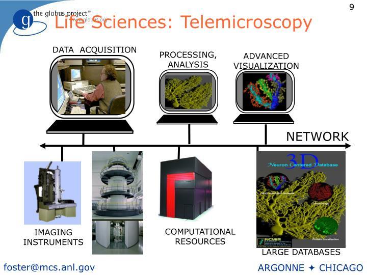 Life Sciences: Telemicroscopy