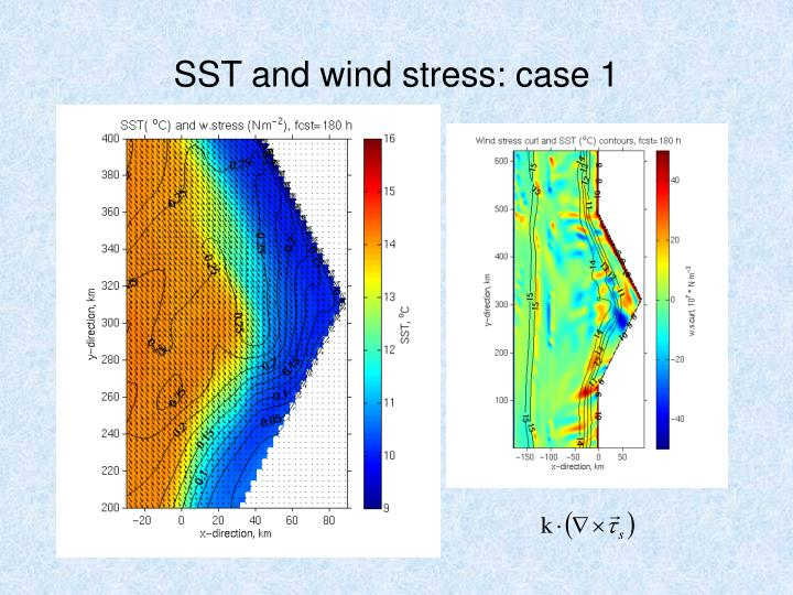 SST and wind stress: case 1