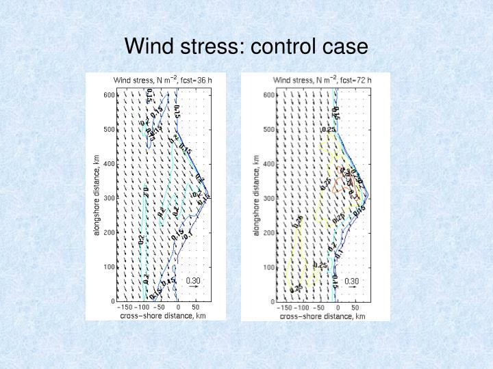 Wind stress: control case