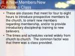 ii a new members new christians class