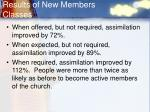 results of new members classes