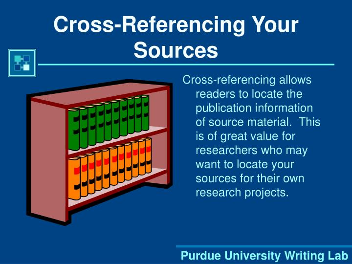 Cross referencing your sources