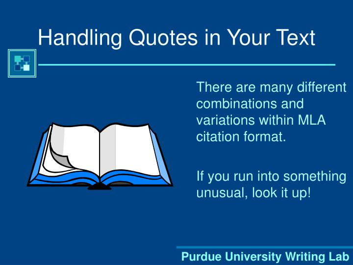 Handling Quotes in Your Text