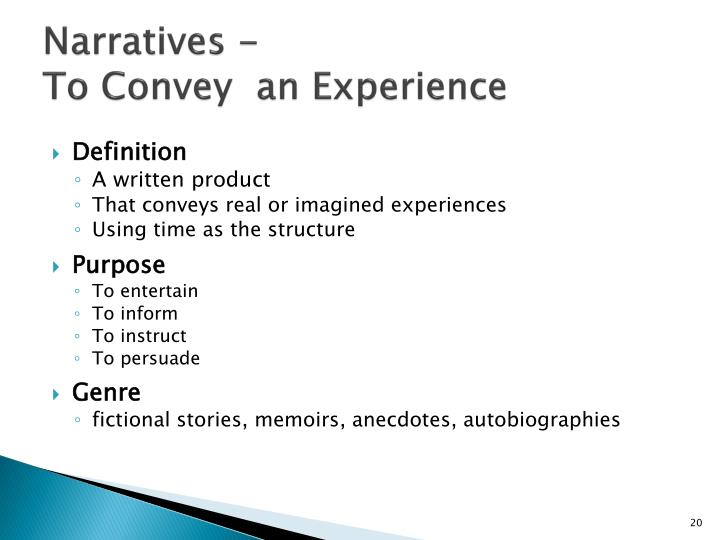Narratives -