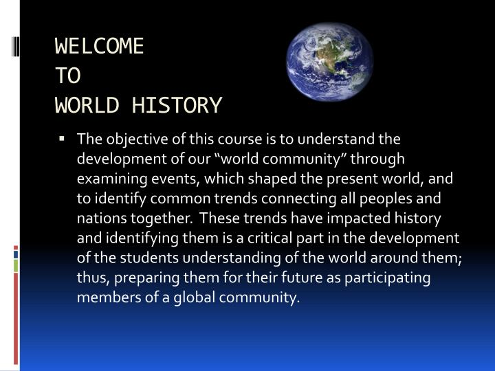 ppt welcome to world history powerpoint presentation id 7051842