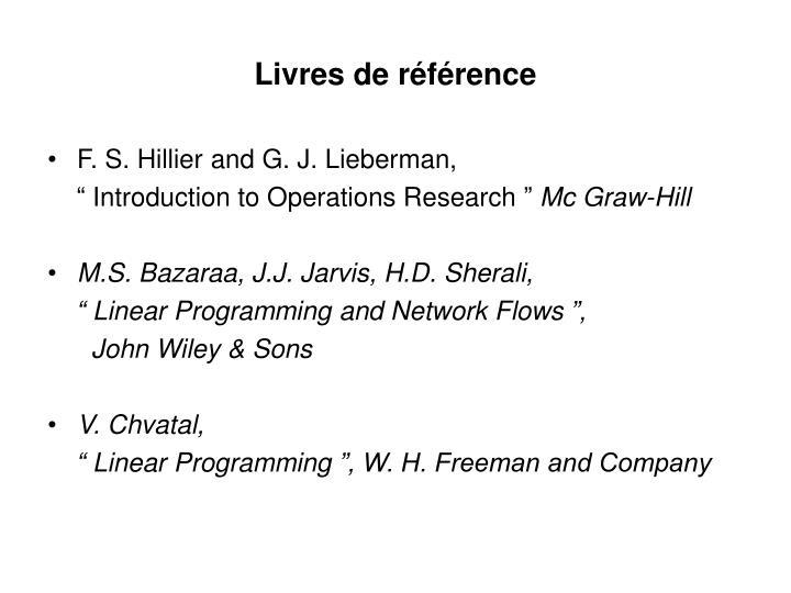 Livres de référence