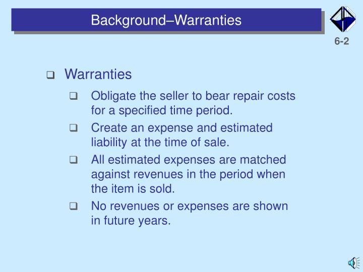 Background warranties