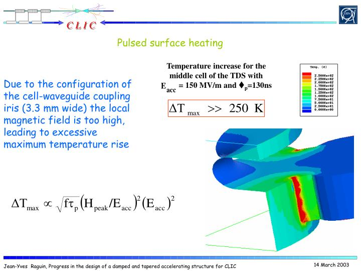 Pulsed surface heating
