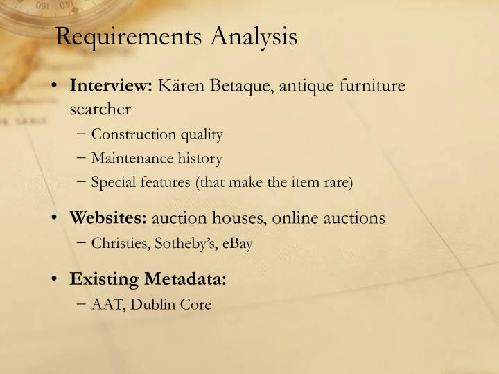 Requirements analysis1