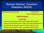 nuclear gamma cerenkov radiation ngcr