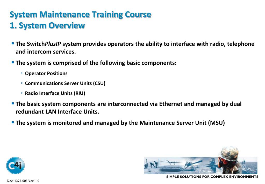 PPT - System Maintenance Training Course PowerPoint Presentation