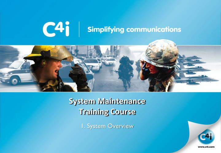 system maintenance training course n.