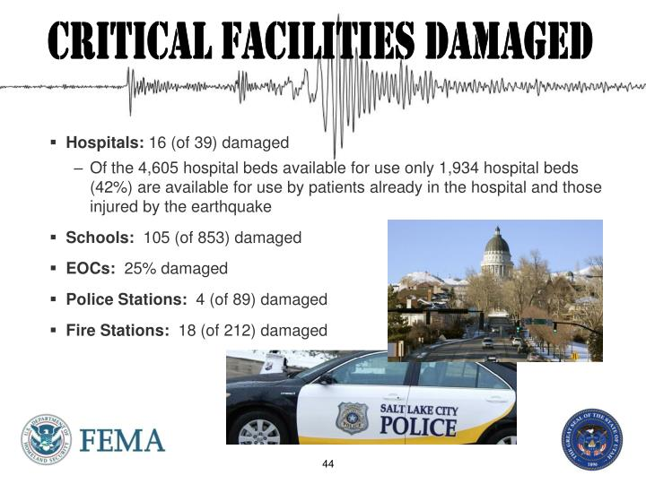 Critical Facilities damaged