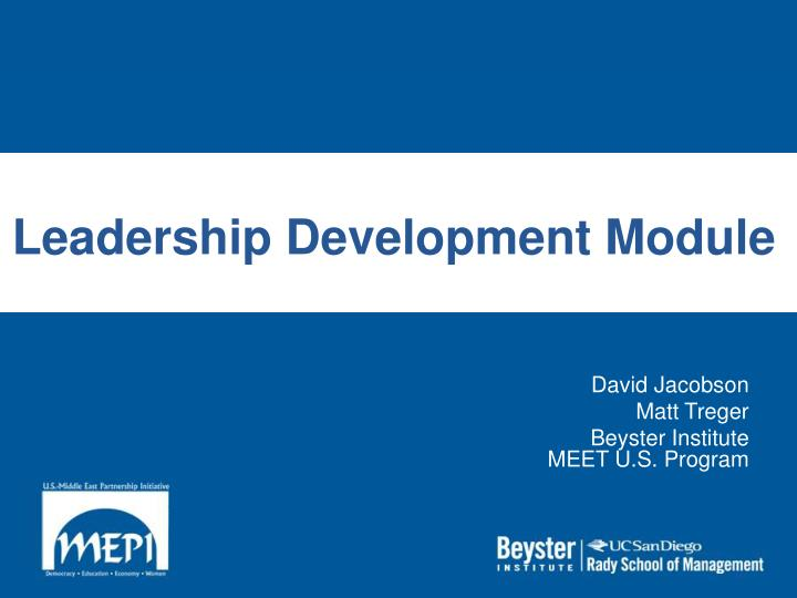 Leadership development module