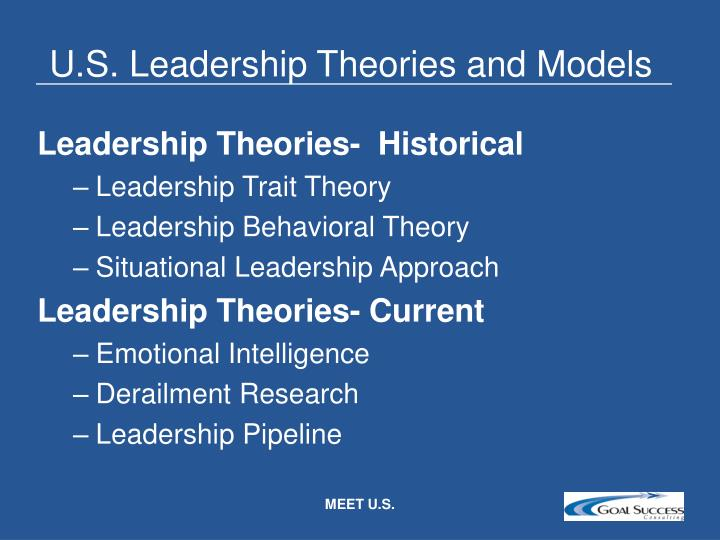 U.S. Leadership Theories and Models