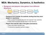 mda mechanics dynamics aesthetics1
