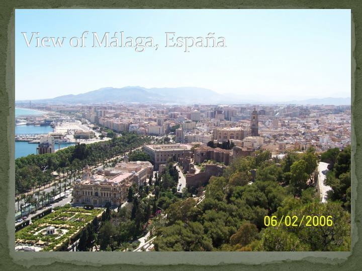 View of Málaga, España